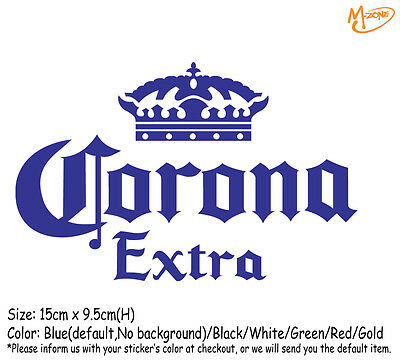 CORONA BEER LOGO Wall Stickers 15cm Reflective Decal Business Signs Best Gift