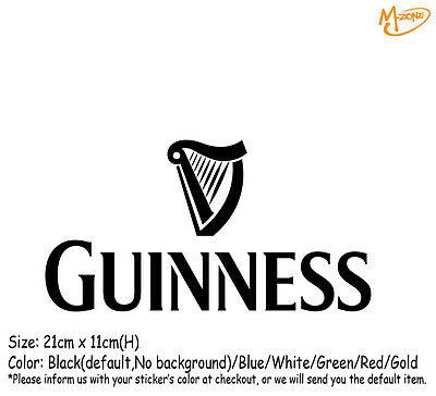 GUINNESS BEER LOGO Wall Stickers 21cm Reflective Decal Business Signs Best Gift