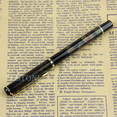 BAOER 801 Aurora Borealis Pattern Fine Nib Fountain Pen Black Shimmering NEW
