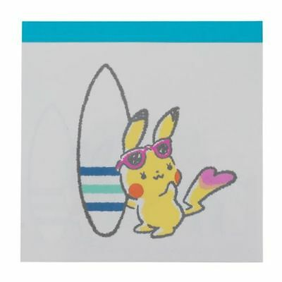 POKEMON LOVE ITS' DEMO Memo pad Surfer Pikachu