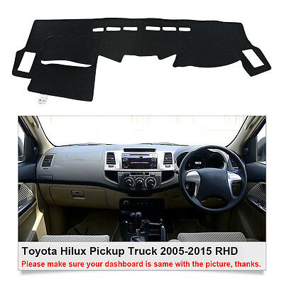 Dash Mat Dashboard Mat Carpet Cover For Toyota Hilux Truck 7/2015-2016 RHD