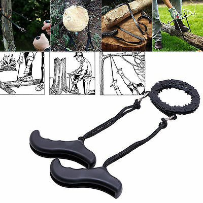 Survival Chain Saw Hand ChainSaw Fast Cutting EDC Camping Tool Pocket Gear NEW