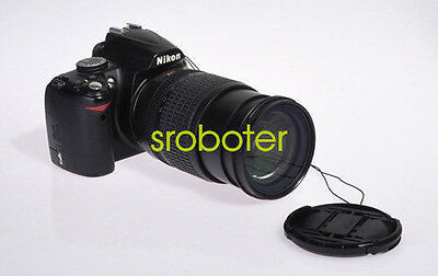 New 77mm Center Pinch Front Lens Cap Cover For NIKON Canon Camera