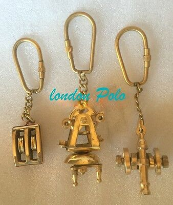 Unique Edition Solid Brass Key Chain Keychain ring pendant Punk Biker gift
