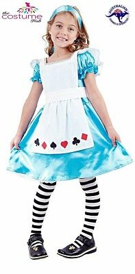Alice in Wonderland Girls Costume Fancy Dress Up Book Week Fairytale Movie