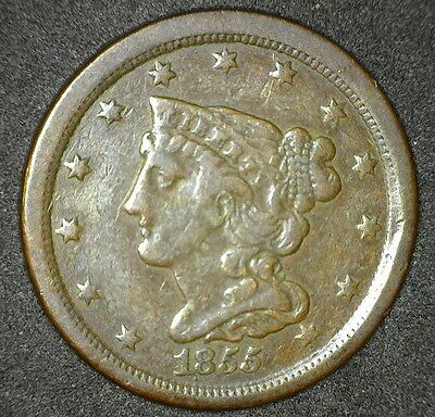 Nice 1855 Braided Hair Half Cent