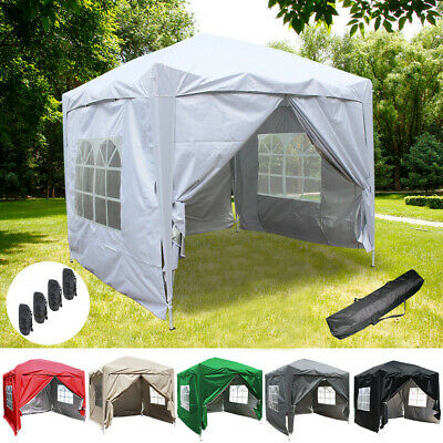 2.5x2.5m Pop Up Gazebo Garden Marquee Party Tent With 2 Windbars 4 Leg Weights
