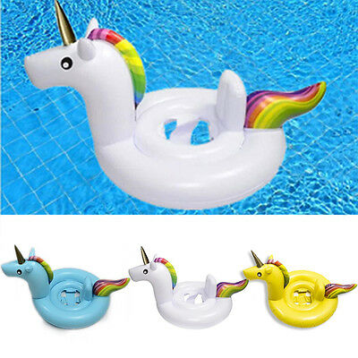 3 Colors Summer Baby Seat Water Fun Unicorn Swimming Ring Float New Inflatable