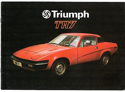 Triumph TR7 Fixed Head 1977-78 UK Market Sales Brochure