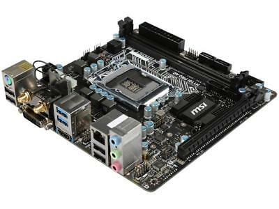 MSI H110I Pro AC LGA 1151 Intel H110 HDMI SATA 6Gb/s USB 3.1 Mini ITX Intel Moth