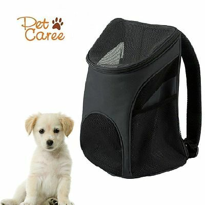 Cat Dog Pet Carrier Mesh Double Shoulder Soft-sided Backpack Outdoor Travel Bag