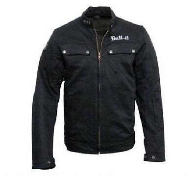 Bull- It Carbon Laser 4 Black Men's Motorcycle Denim Jacket Armour XS S