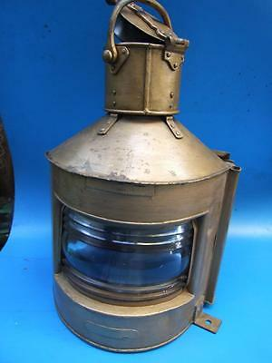 Antique Large  British Royal Navy Ship Oil Lamp  Starboard C.1944