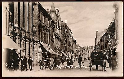 Vintage Postcard High Street Inverness Scotland Unused Ref: KA606