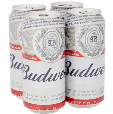 Budweiser Lager Beer, 6/24 x cans  500ml ABV 4.8%