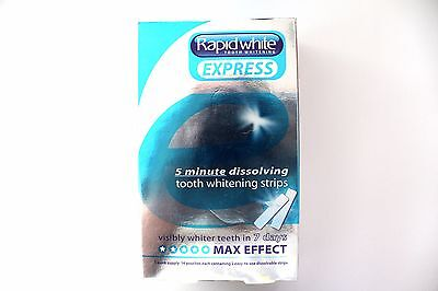 Rapid White Express 5 Minute Dissolving Tooth Whitening Strips - 1 Week Supply