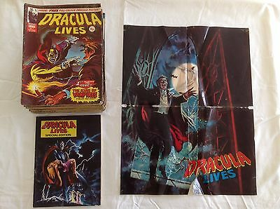 Dracula Lives Marvel Comics 62 Issues + Special Edition + Poster