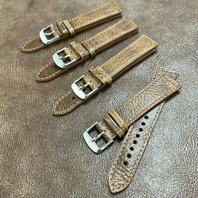 Size 18/20/22mm Oily Cow Leather Watch Strap/Band Army Military Pilot Watch #H5