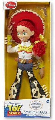 "Toy Story Disney Pull String Jessie 16"" Talking Figure plush stuffed Doll"