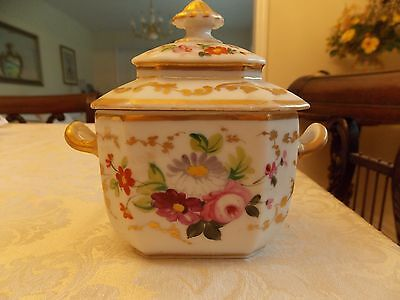 Old Paris Porcelain Sugar Bowl