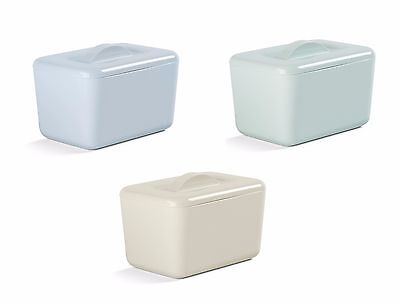 NEW 2017 Zeal Insulated Melamine Butter Dish Egg Blue Sage Green Cream