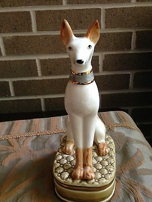 Porcelain beautiful sitting greyhound /Hand painted by Andres  $79.90 Now $69.90