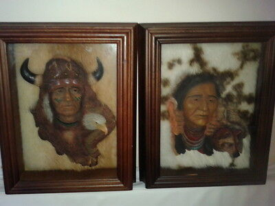EARTHSONG NATIVE AMERICAN  WALL BOX PICTURE ART (Limited Edition) by Neil Rose