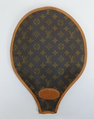 Vintage Authentic Louis Vuitton Tennis Racket Racquet Cover Monogram Canvas 7650