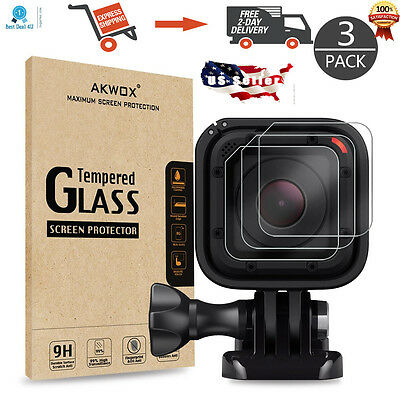 Gopro Hero 4 5 Session LCD Lens Tempered Glass Screen Protector 3 Pack Brand New