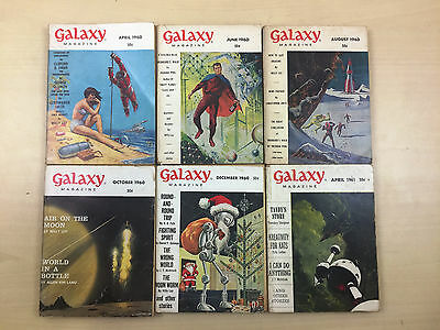 Vintage 1960's Galaxy Magazine Science Fiction Bundle of 35 | Incomplete Years
