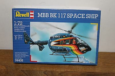 Revell Mbb Bk 117 Space Ship Helicopter 1/72 Scale Model Helicopter Kit #4408