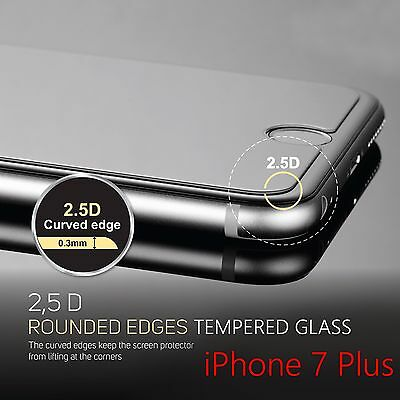 "2-Pack Rounded Edged Tempered Glass Screen Protector For iPhone 7 Plus (5.5"")"