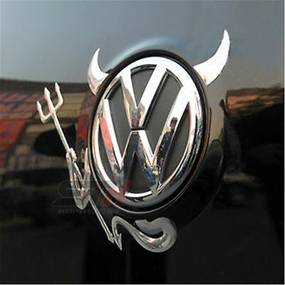 Car 3D Devil Sticker Decal Emblem Logo Chrome Decal Fit BMW TOYOTA VW HONDA
