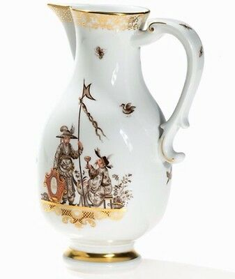 1999 Meissen Chinoiserie  Gold Pitcher Jug After Horoldt