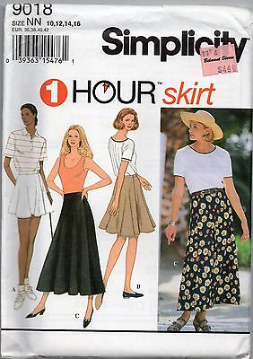 Vintage Sewing Pattern ~ RETRO FLARED WRAP SKIRT SIMPLICITY 10 12 14 16 UNCUT