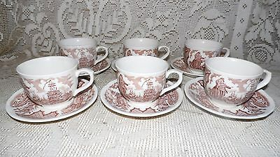 Alfred Meakin Fairwinds Staffordshire England Cups & Saucers Sailors Farewell