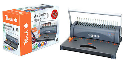 Binding Machine Peach A4 Comb Star Punches 12 Binds 350S
