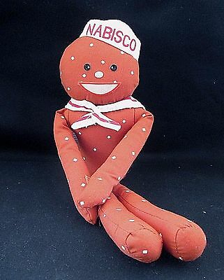 Vintage Russ Berrie Nabisco Mr Mister Salty Advertising Plush Pretzel Doll   A