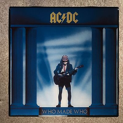 AC/DC Who Made Who Coaster Ceramic Tile Record Cover