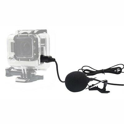 Gopro 3.5mm External Microphone Clip On Mic+ Adapter Cable for GoPro Hero 3 3+ 4