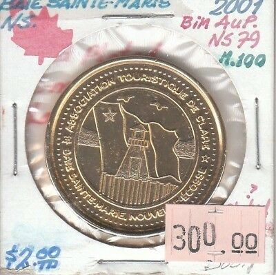Baie Sainte-Marie Nova Scotia Canada - Trade Dollar - 2001 Gold Plated
