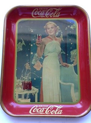 1935 Coca Cola Serving Tray Bottle Mgm Player Madge Evans Coke