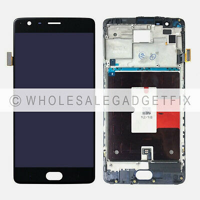 US Oneplus Three 3 A3000 A3003 LCD Display Screen Touch Screen Digitizer + Frame