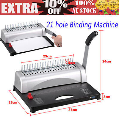 Pro Paper Office Comb Binding Machine 21 Hole 450S A4 Plastic Coil Punch Binder