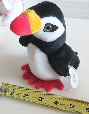 1997 Puffer the Penguin Retired Original Beanie Baby Rare TY Mint Condition