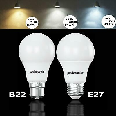 5W 7W 12W LED (40/60W/100W) E27 B22 GLS Lamp Light Bulbs Warm Cool Day White