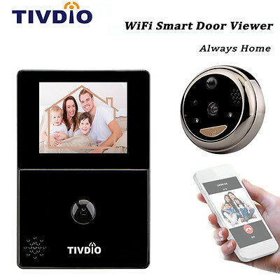 "2.8"" OLED HD Screen Smart Peephole Door Viewer Camera WiFi Doorbell Intercom AU"