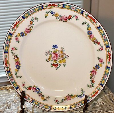 """""""4 Minton Rose pattern a4807 globe stamp china 9"""" luncheon plate"""""""