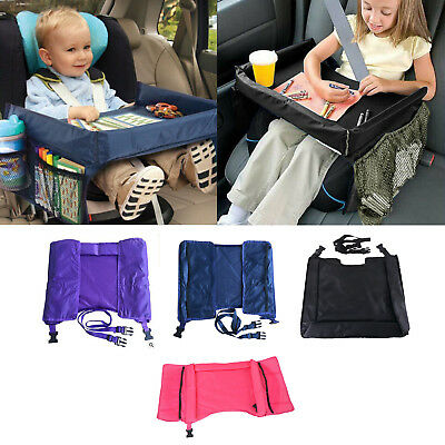 US-Kid-BABY-Car-Seat-Snack-Play-Shelf-Travel-Tray-Table-On-the-Go-Waterproof NEW