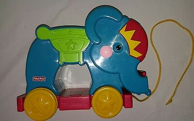 pull along toy, Fisher Price, musical elephant, includes batteries, excellent co